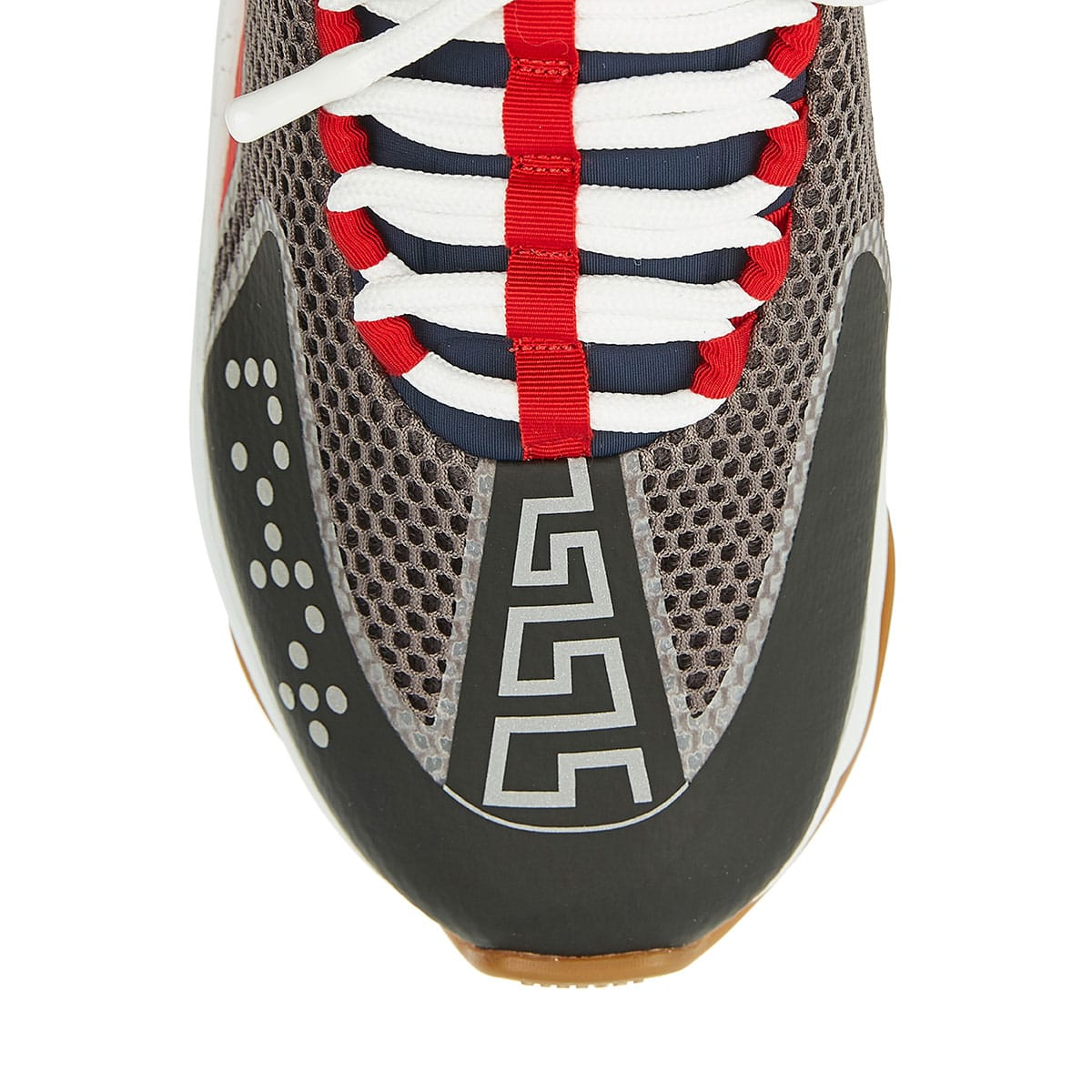Cross Chainer leather-trimmed sneakers