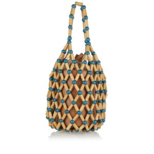 Fefi bamboo-beaded bag