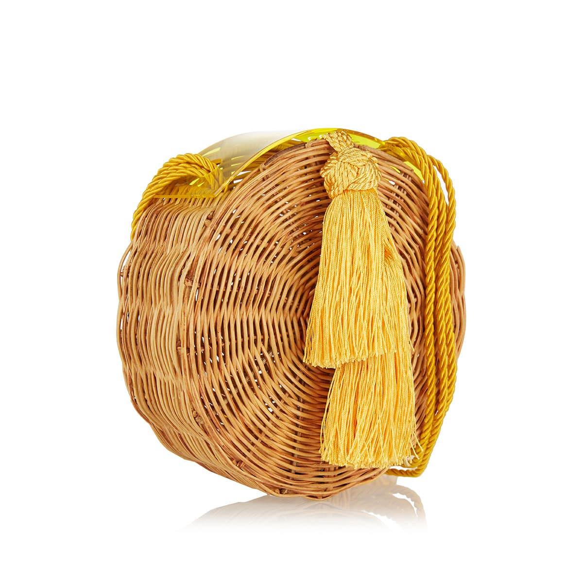 Petit Balaio rattan round bag
