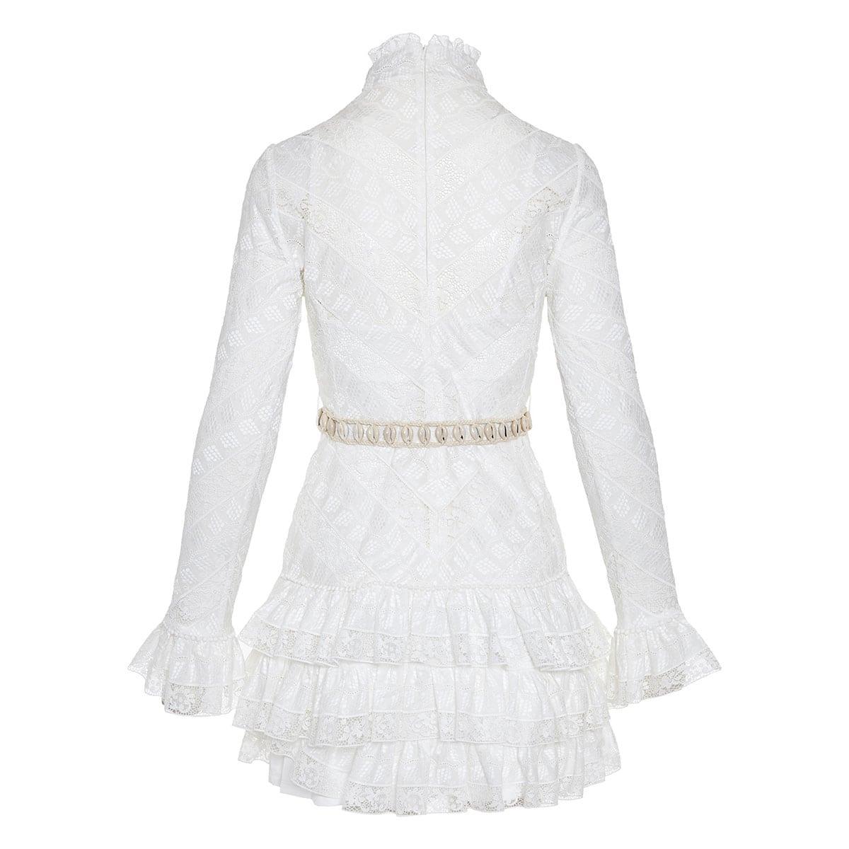 Veneto Perennial lace mini dress