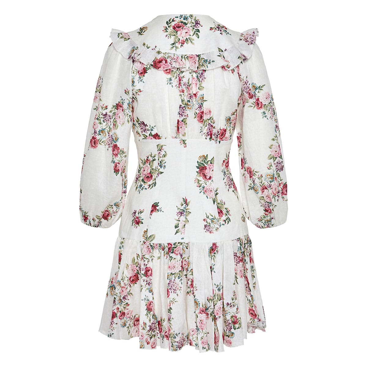 Honour floral corset mini dress