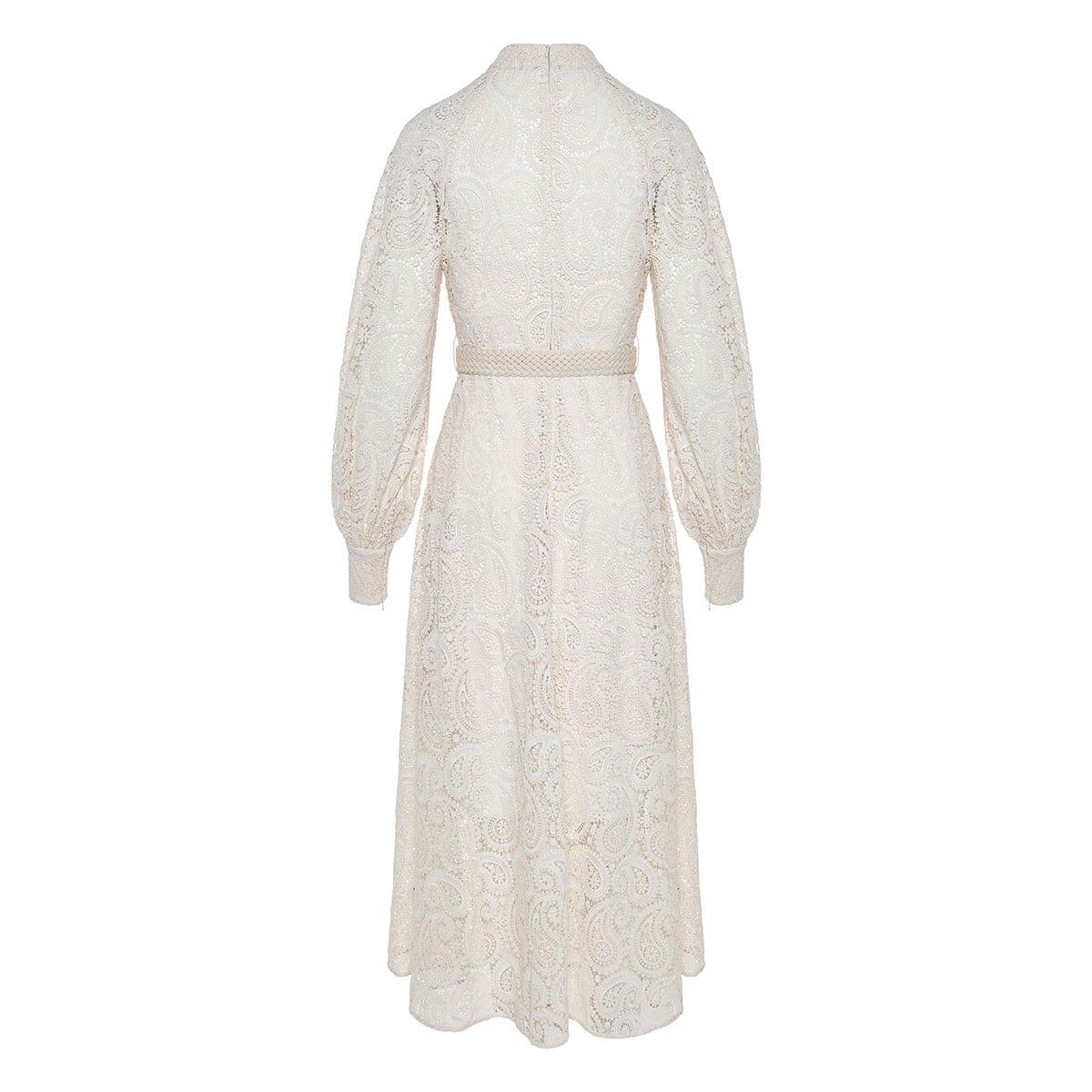 Amari paisley crochet midi dress