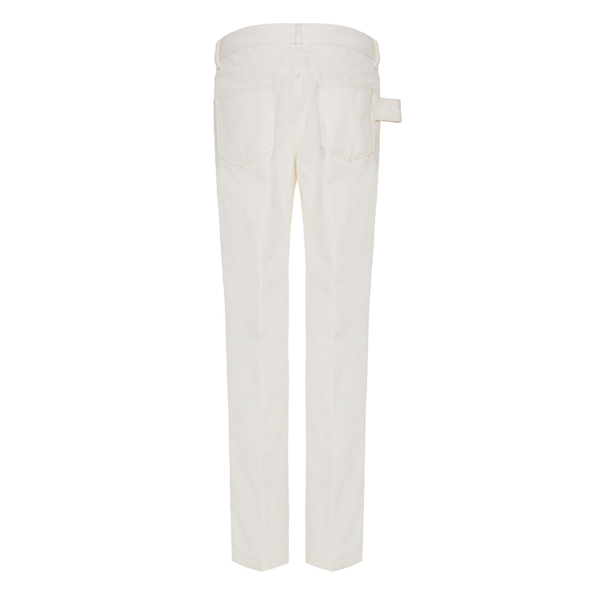 Straight-leg denim trousers