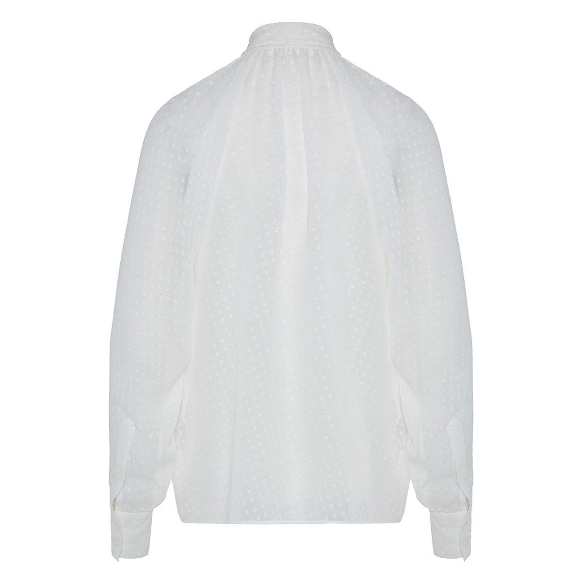 Bow-tie polka dot jacquard shirt