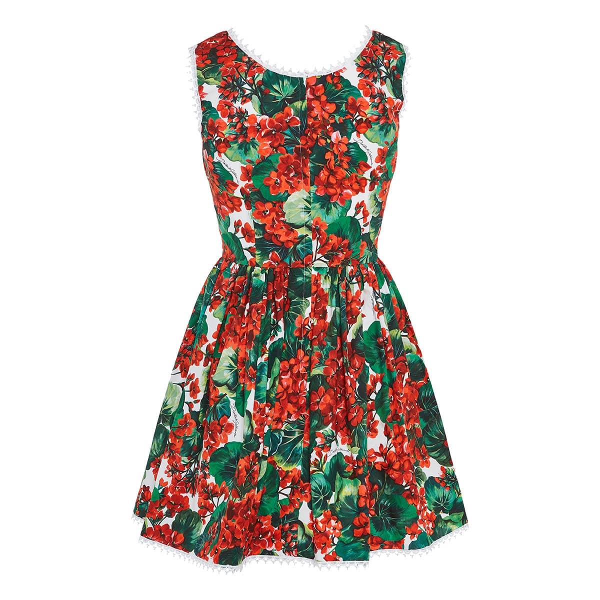Portofino print cotton mini dress
