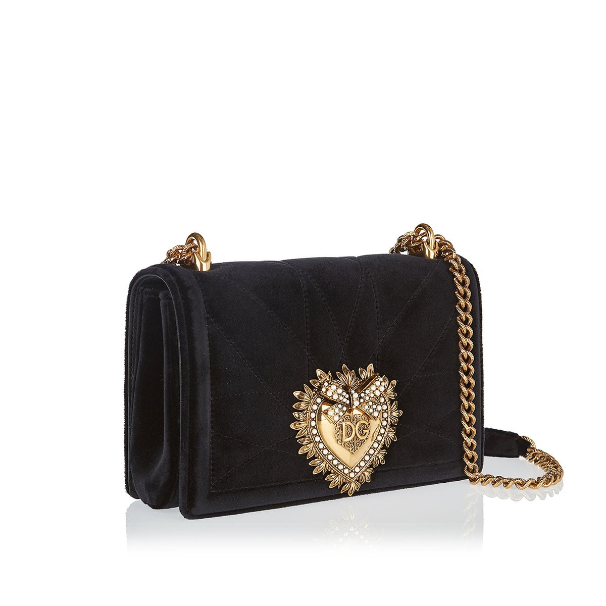 Medium Devotion velvet bag
