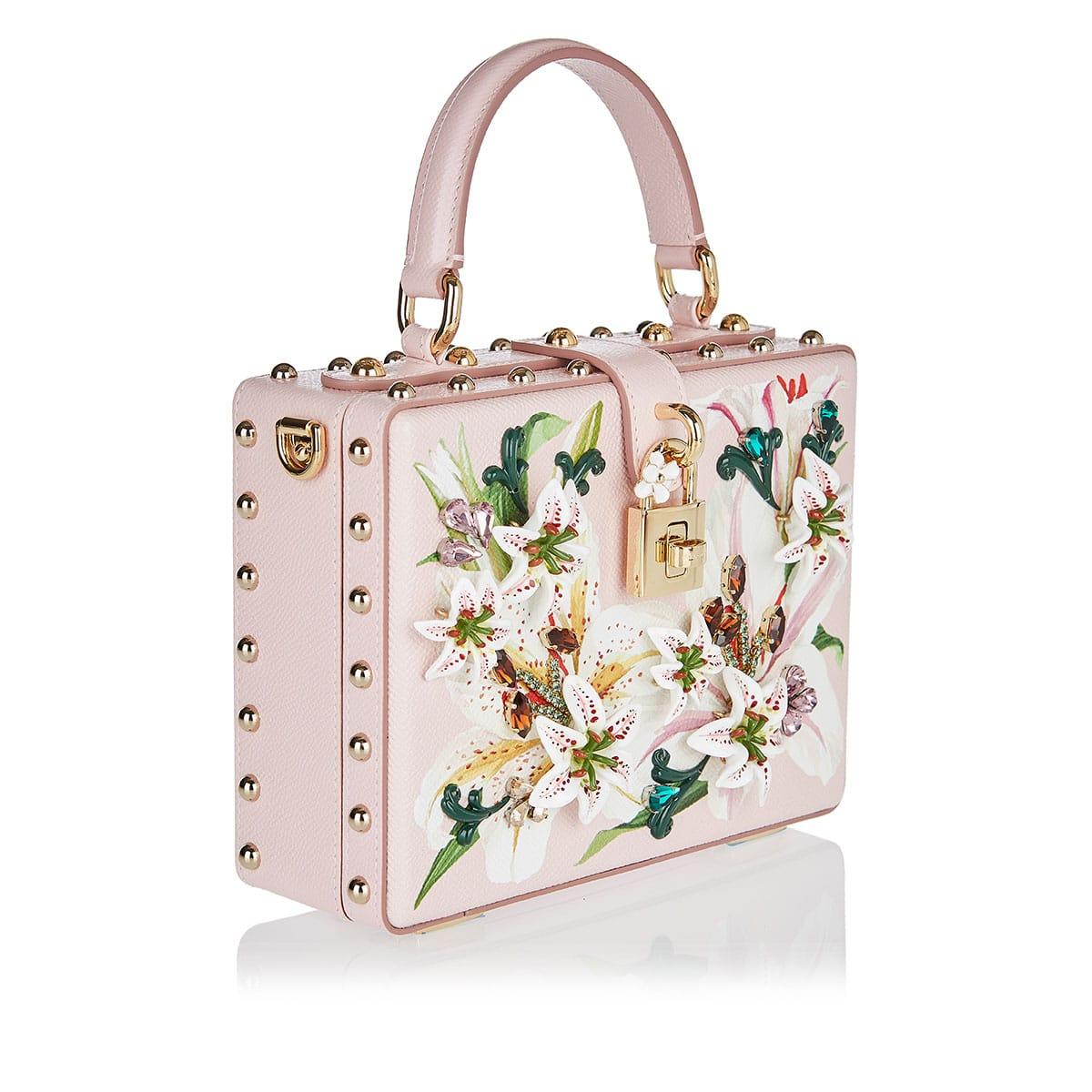 Dolce Box embellished floral bag