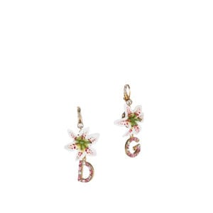 Crystal-embellished logo drop earrings