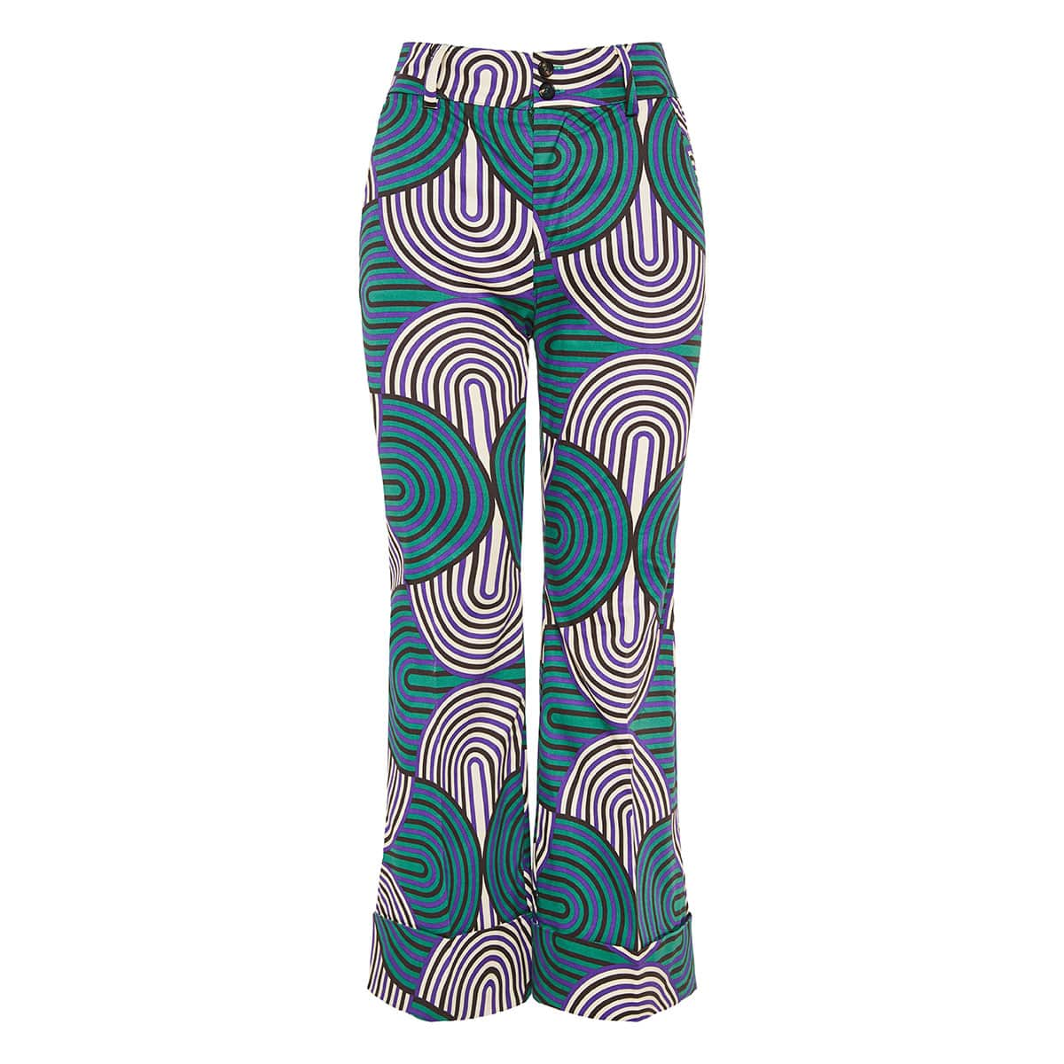 Hendrix printed flared cropped pants