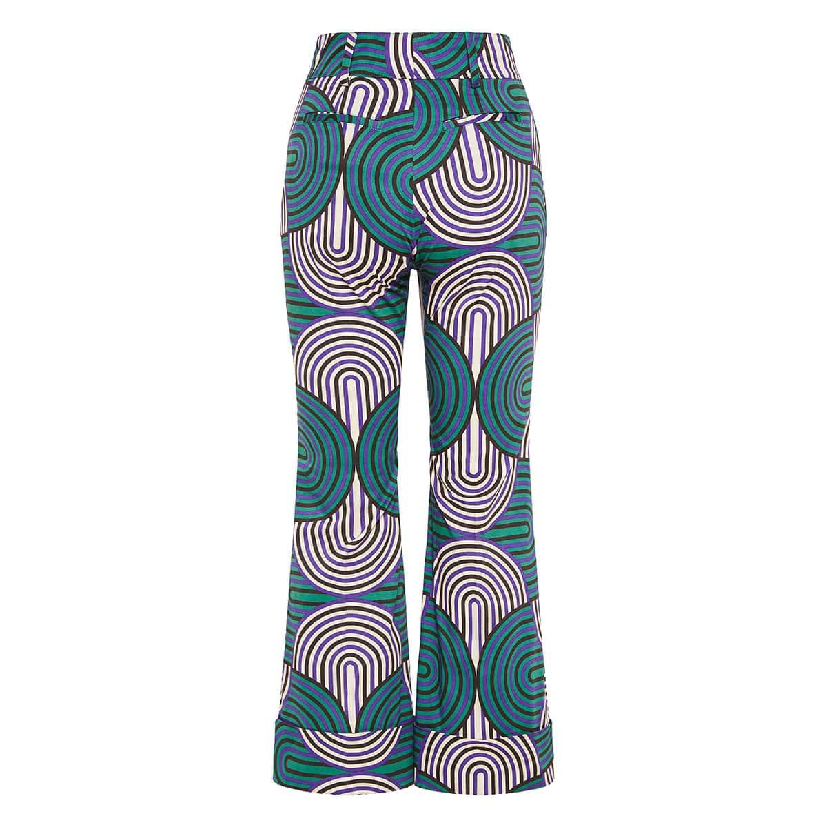 Hendrix printed flared cropped pants