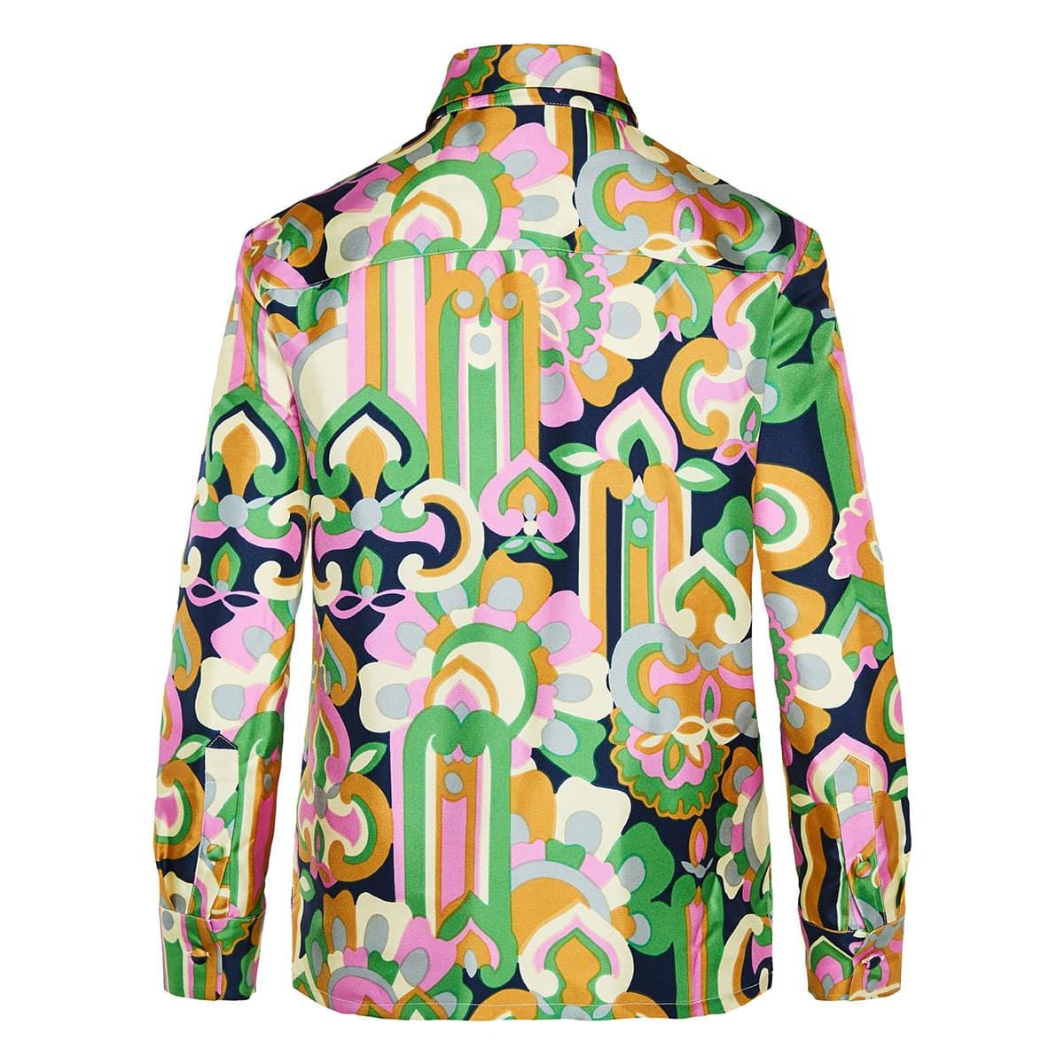 Boy printed silk shirt