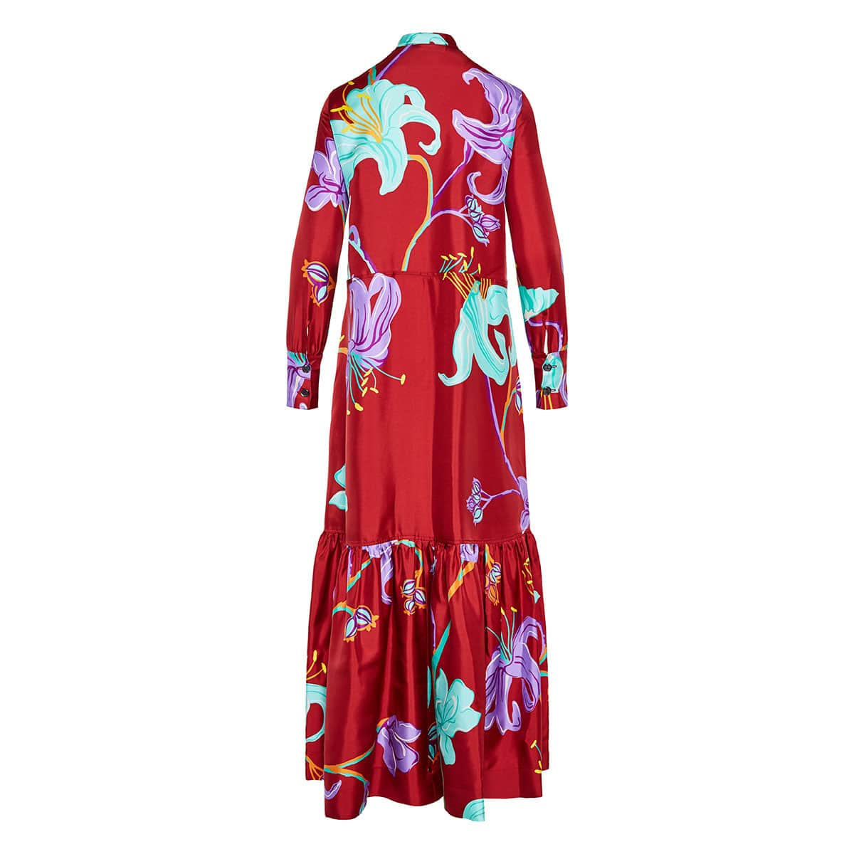Printed long tiered dress