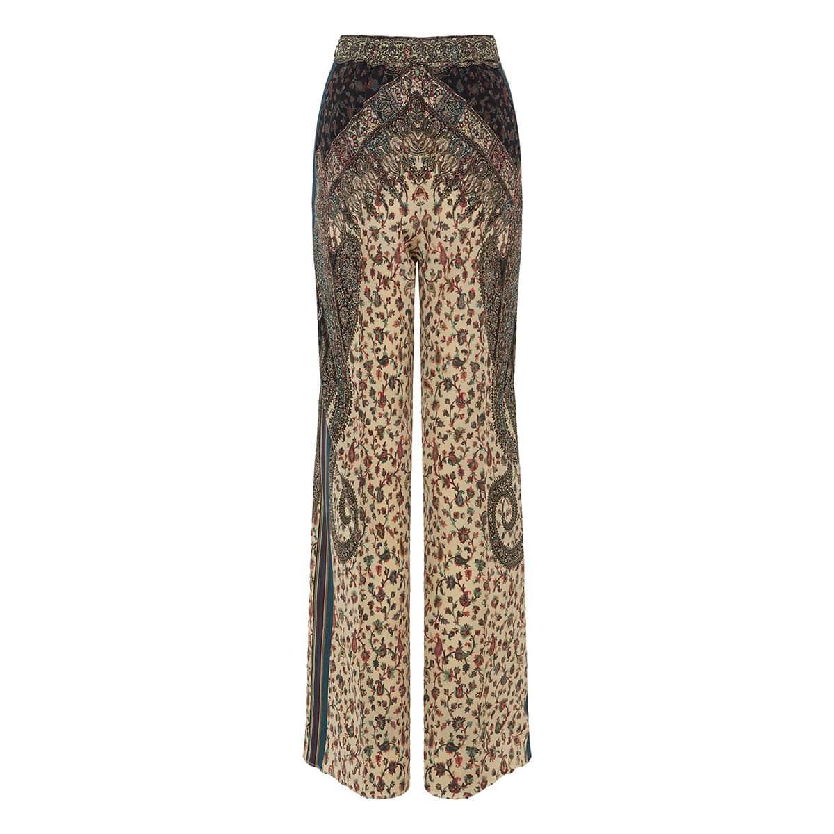 Devon paisley-print trousers