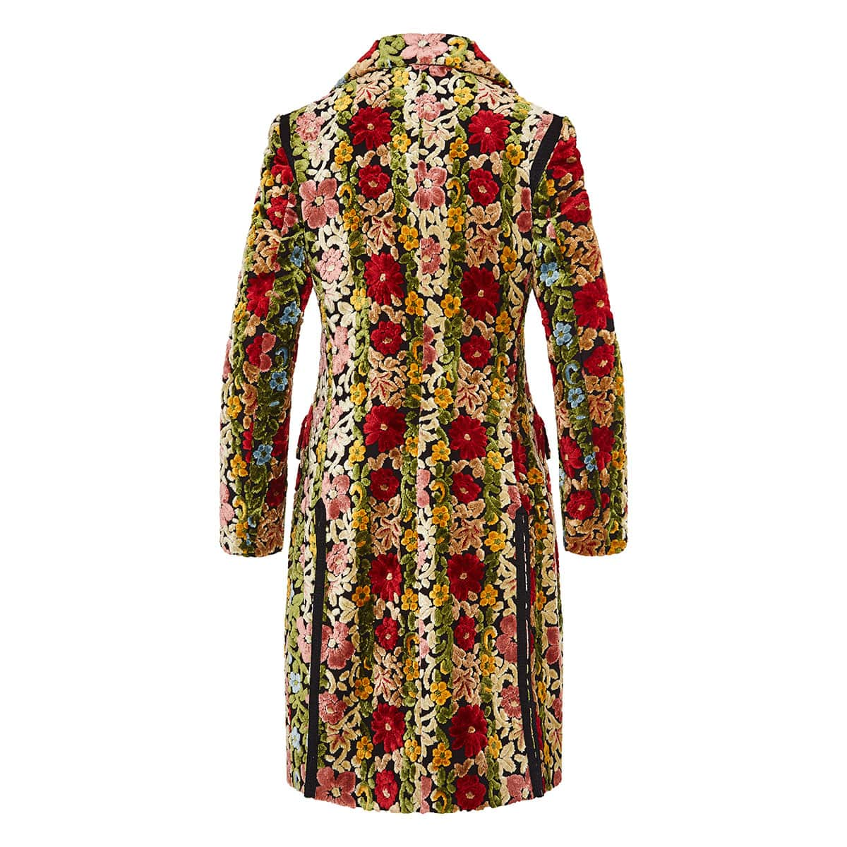 Carpet-embroidered floral coat