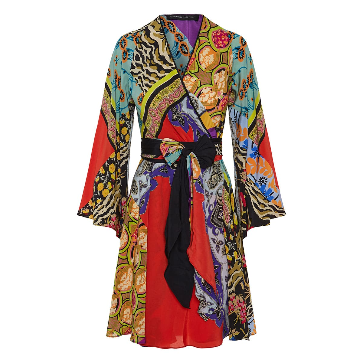 huge selection of 99254 b5256 Patchwork-printed wrap dress