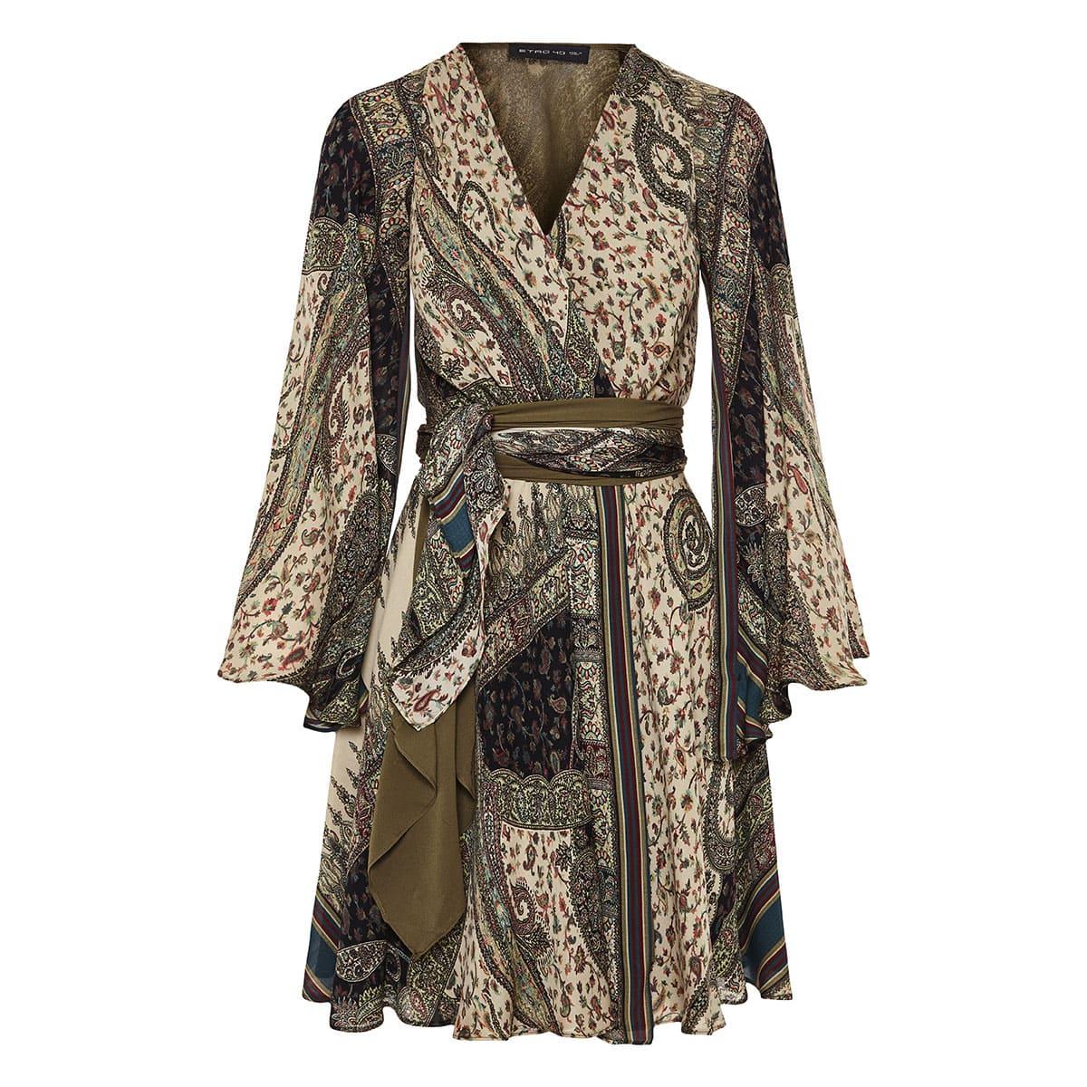 Devon printed silk dress