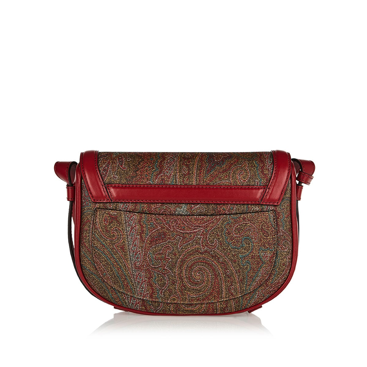 Pegaso printed leather-trimmed bag
