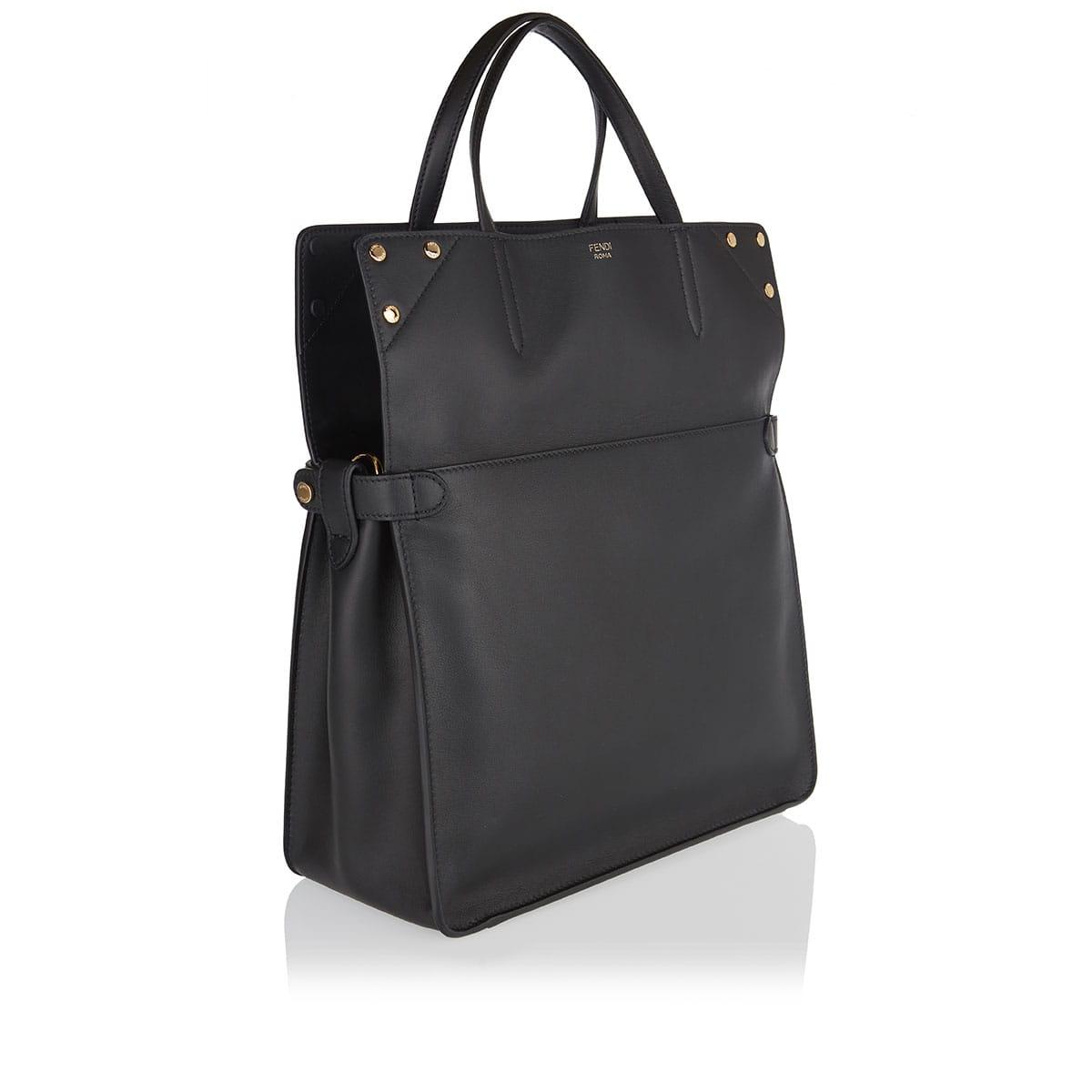 Large Flip leather shoulder bag