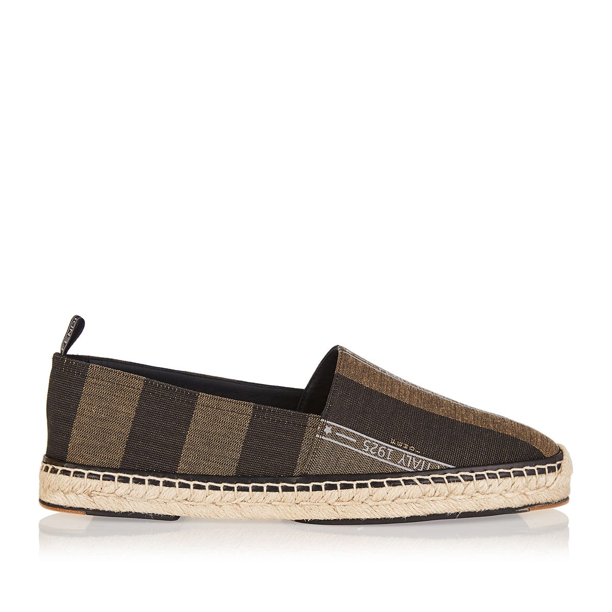 Striped canvas espadrilles