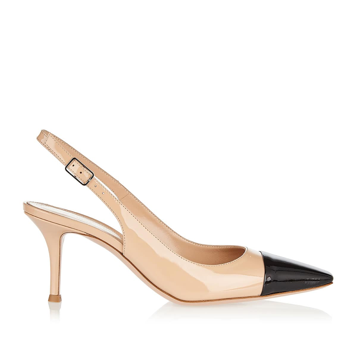 Lucy 70 patent leather slingback pumps