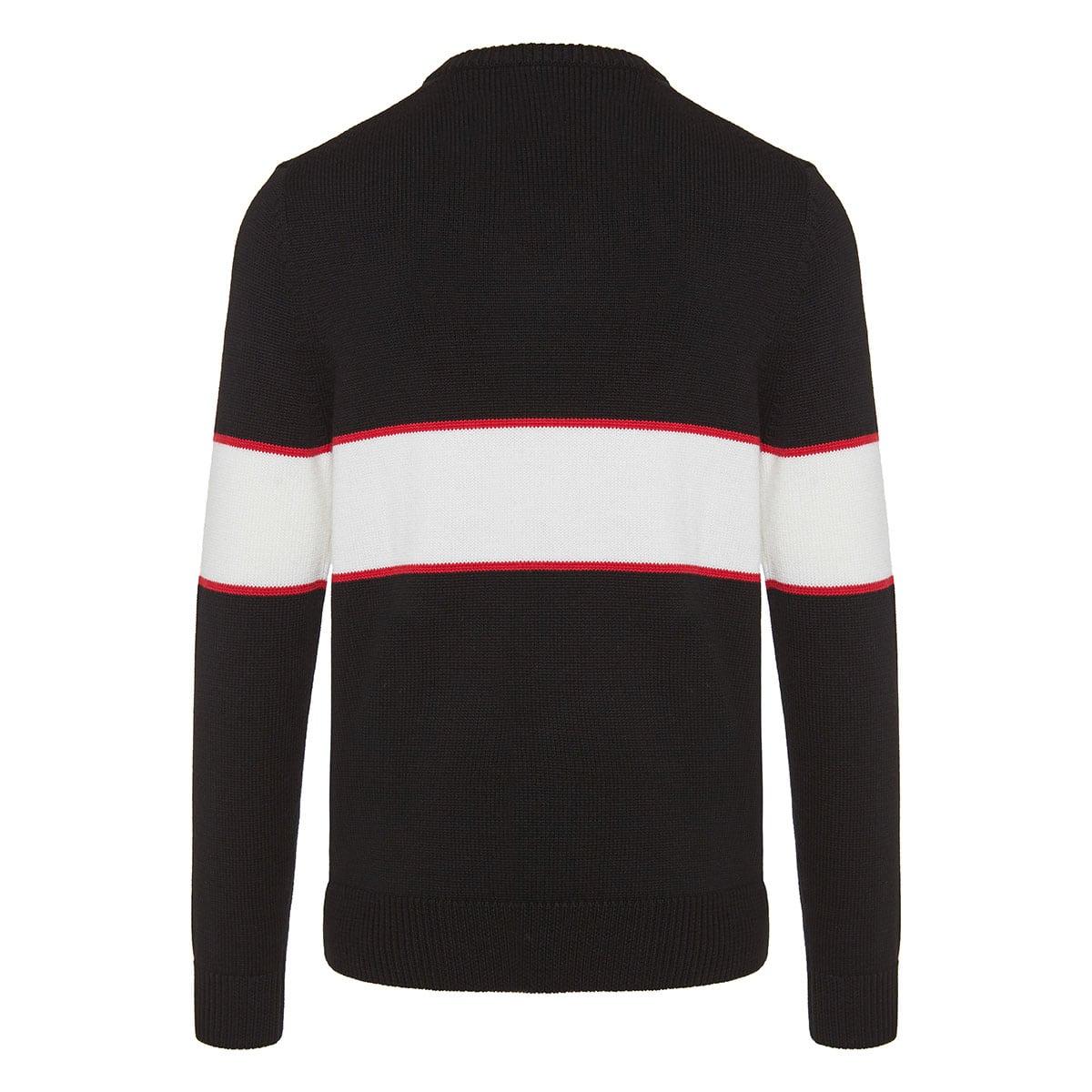 Logo intarsia knitted jumper