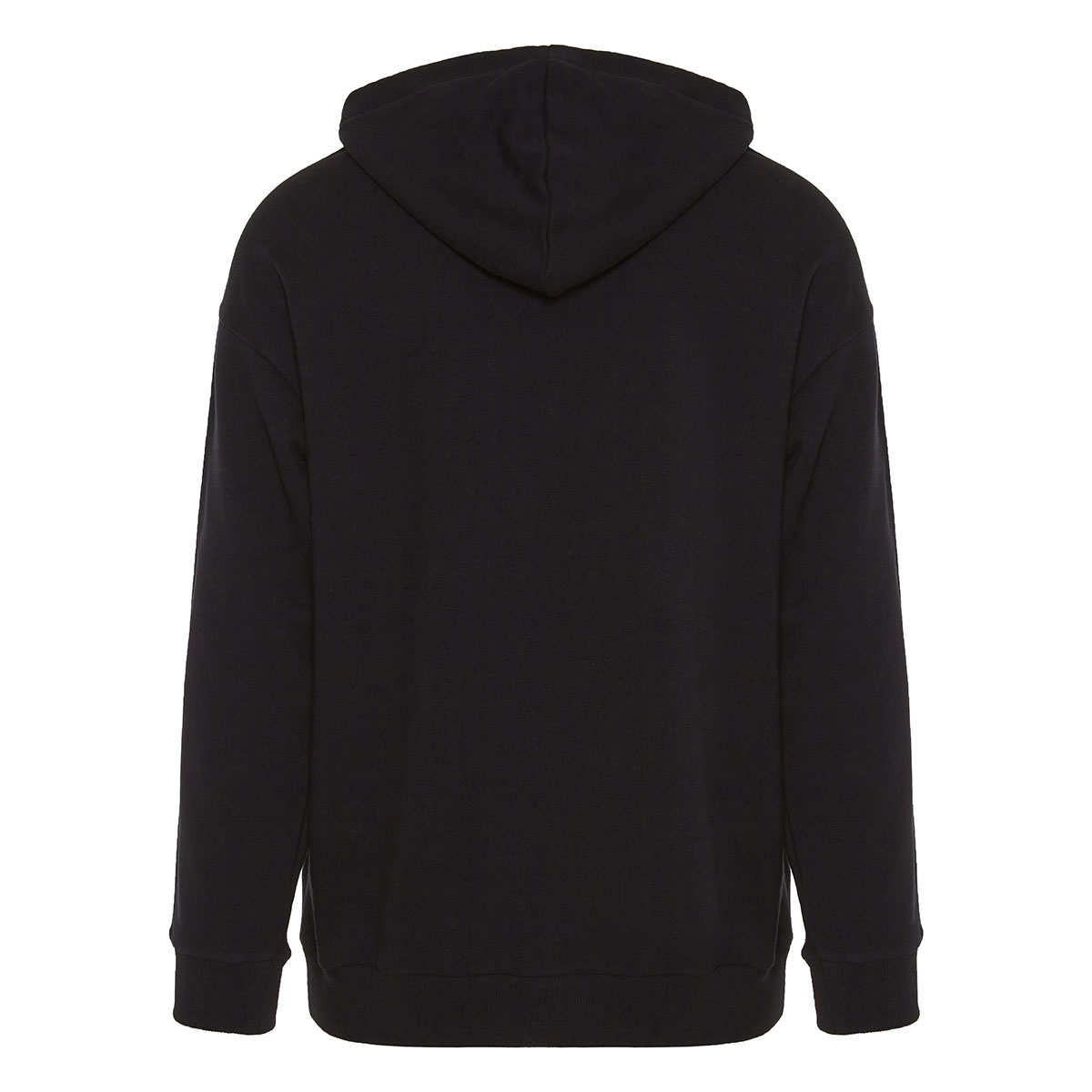 Cotton hoodie with logo bands