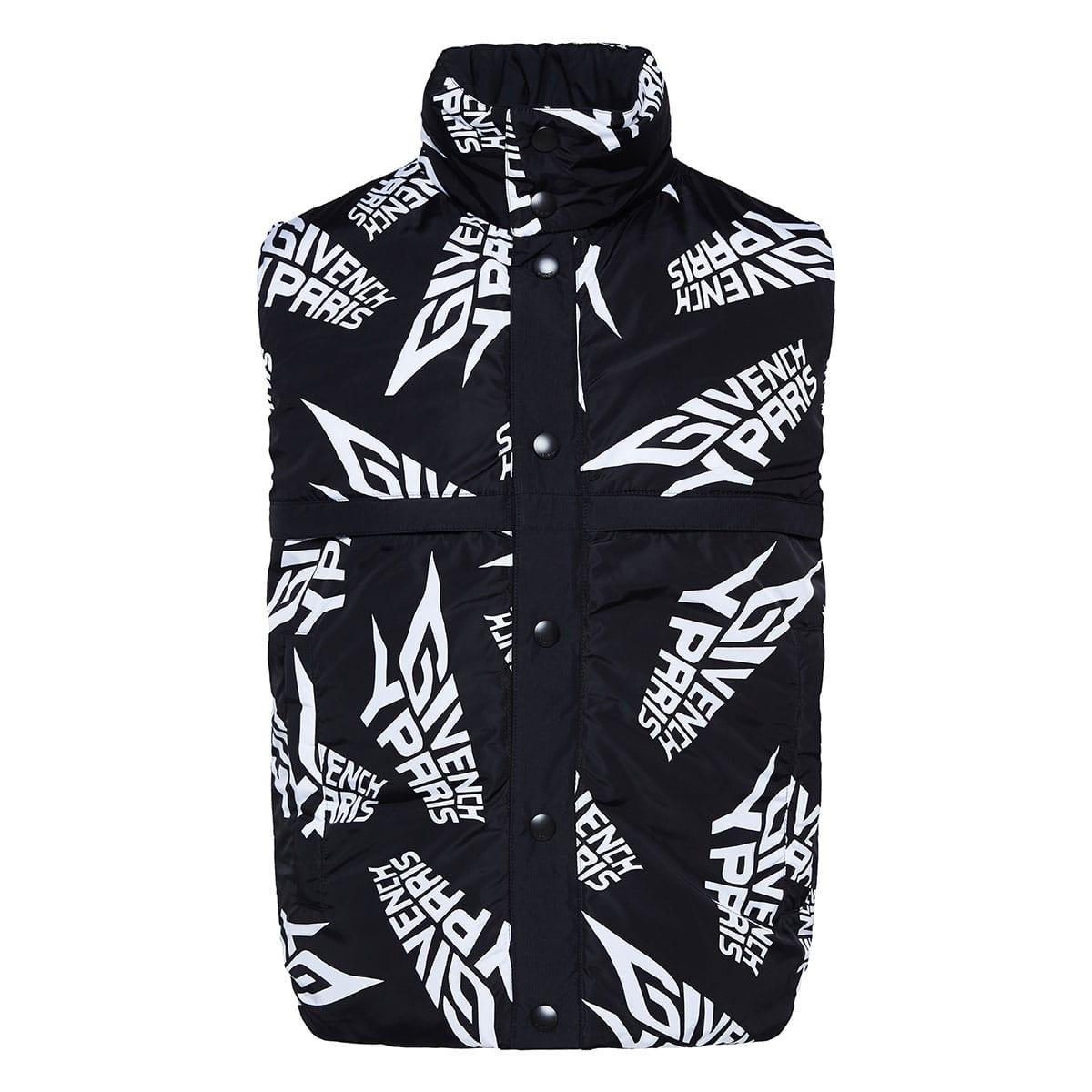 Reversible logo padded gilet jacket