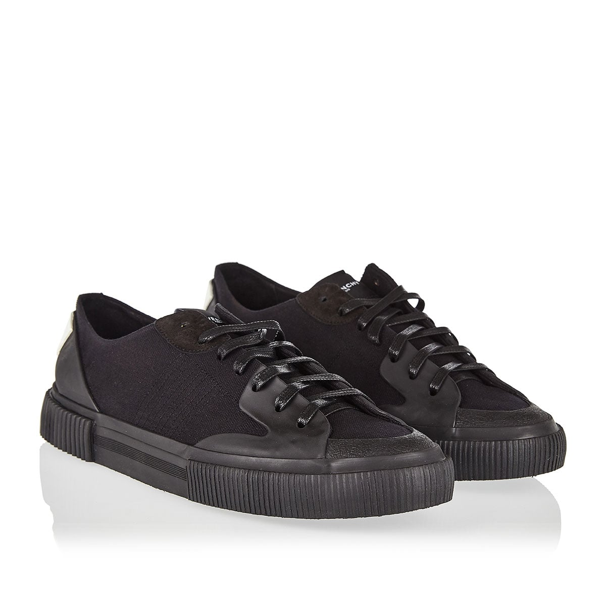 Tennis low-top canvas sneakers