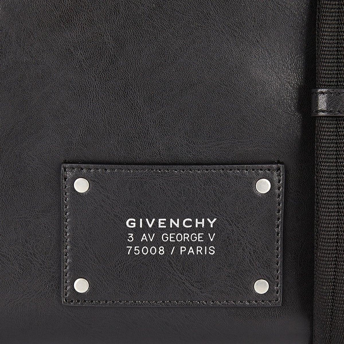 Large leather messenger bag