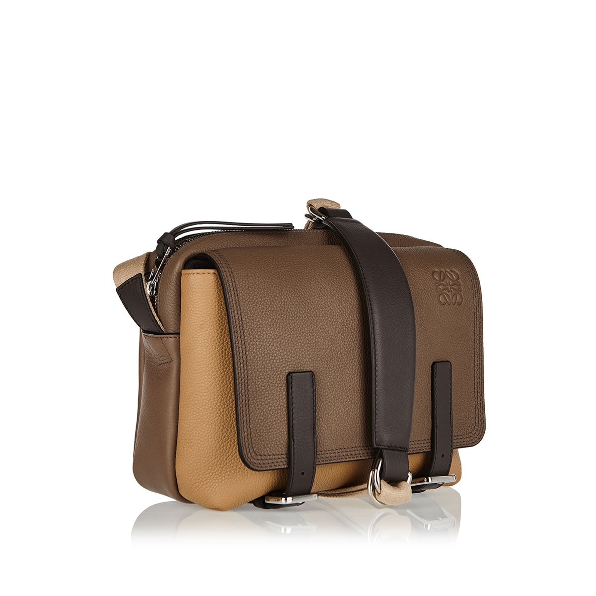 Military Messenger extra small leather bag