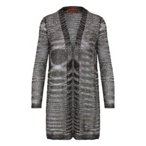 Sequin knitted cardigan