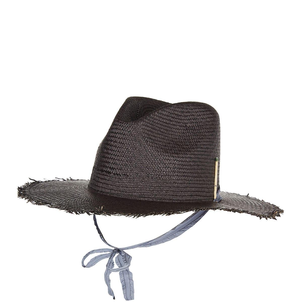 Brock X Nick 3 straw fedora hat