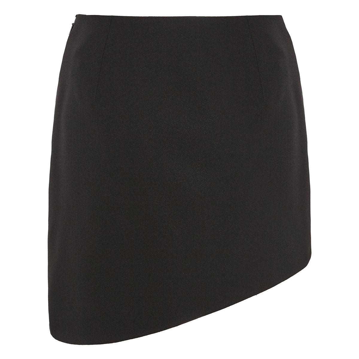 Asymmetric mini skirt