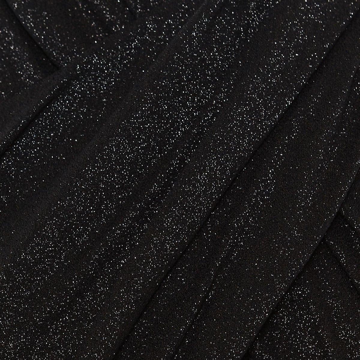 Metallic-effect crisscross mini dress