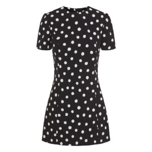 Polka-dot mini dress