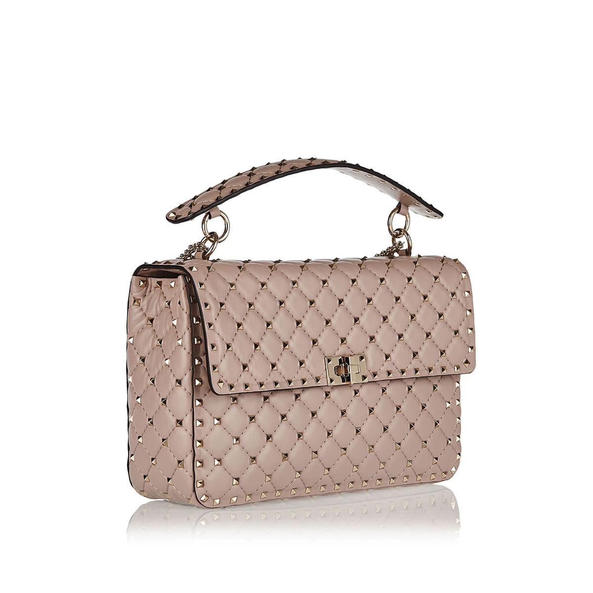 Rockstud Spike leather chain bag