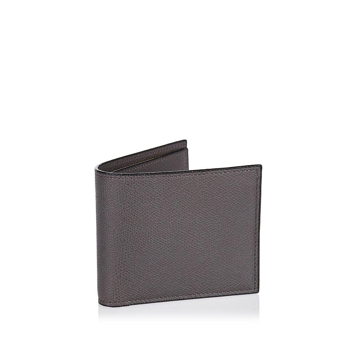 6CC bi-fold leather wallet