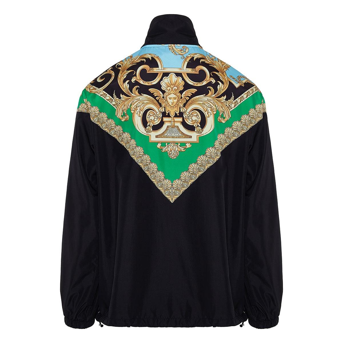 Baroque print nylon jacket