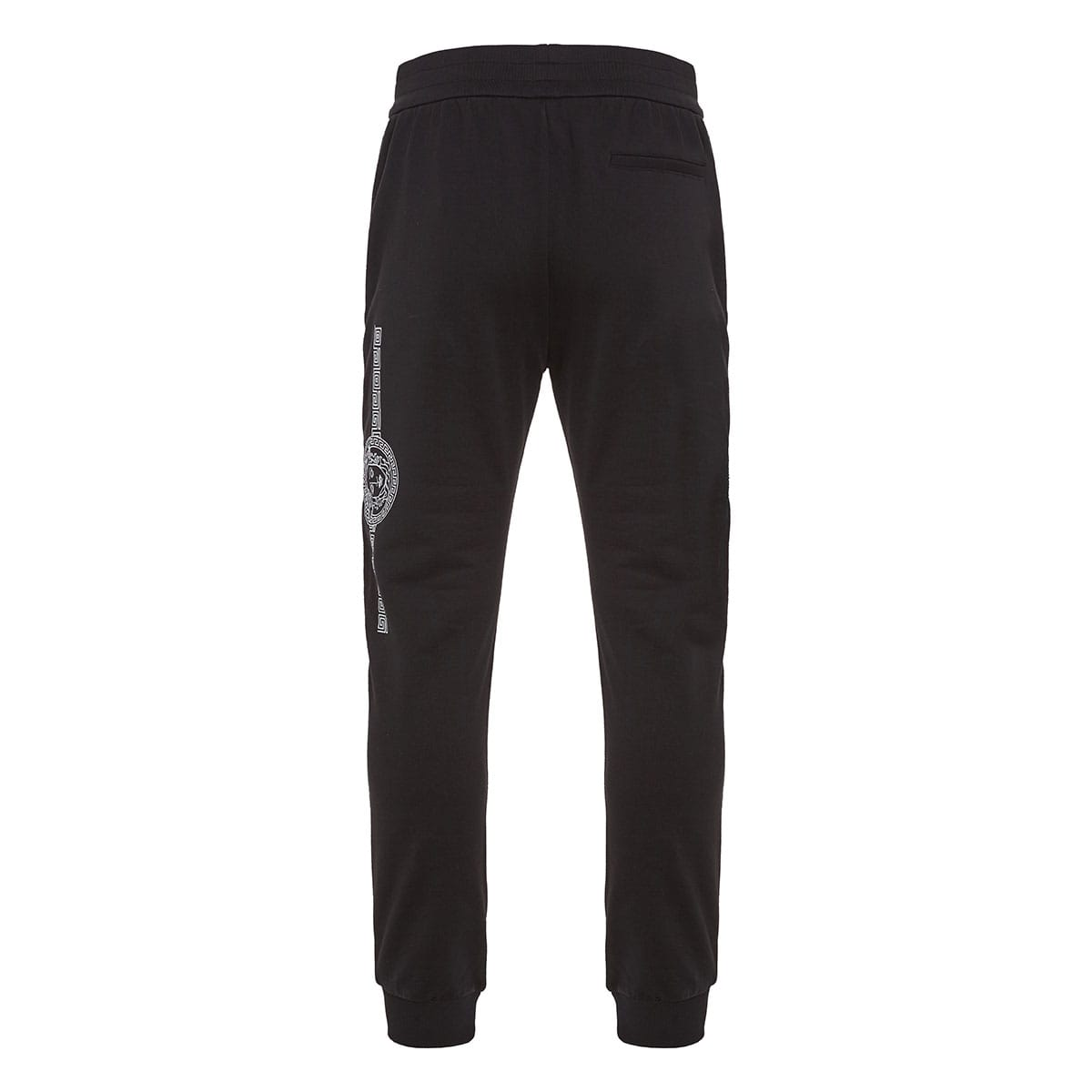 Printed logo cotton track trousers