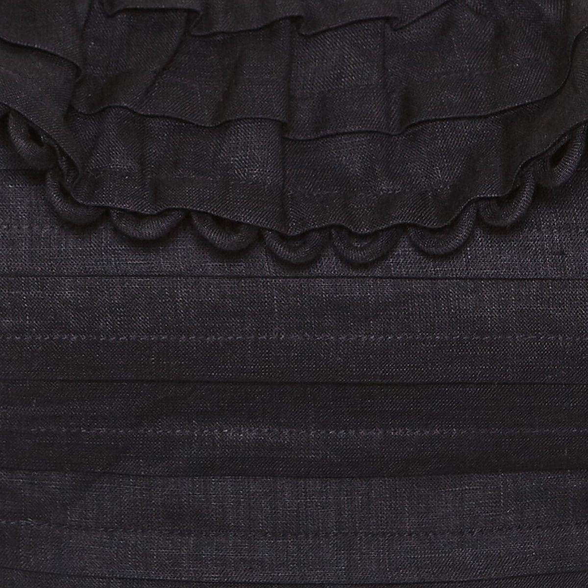 Allia linen cropped top