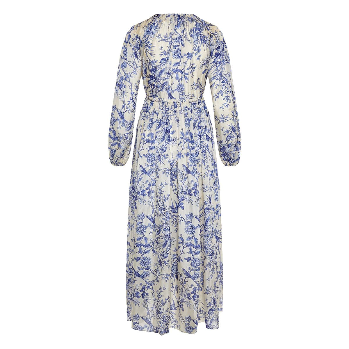 Verity floral gathered midi dress