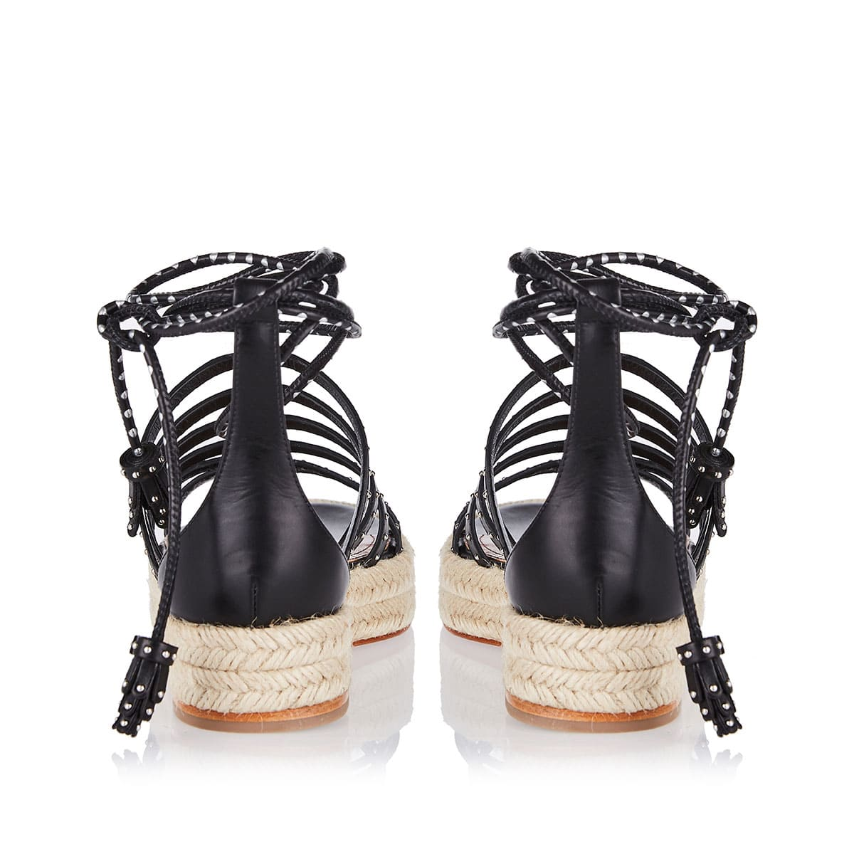Lace-up studded sandals
