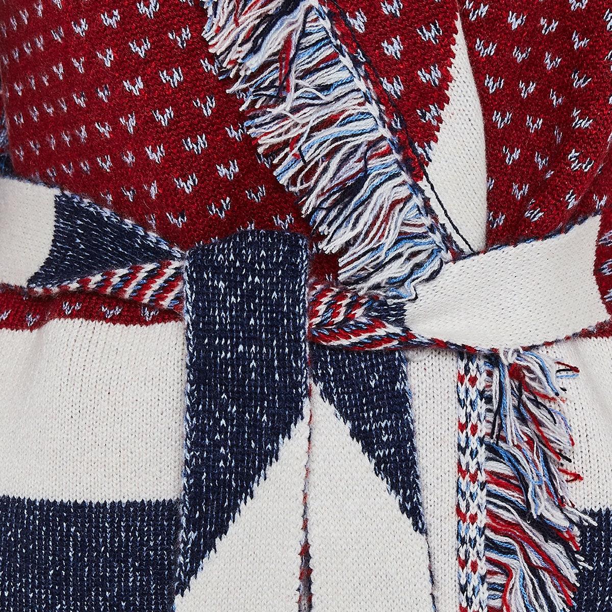 Union Jack Oversized cashmere cardigan