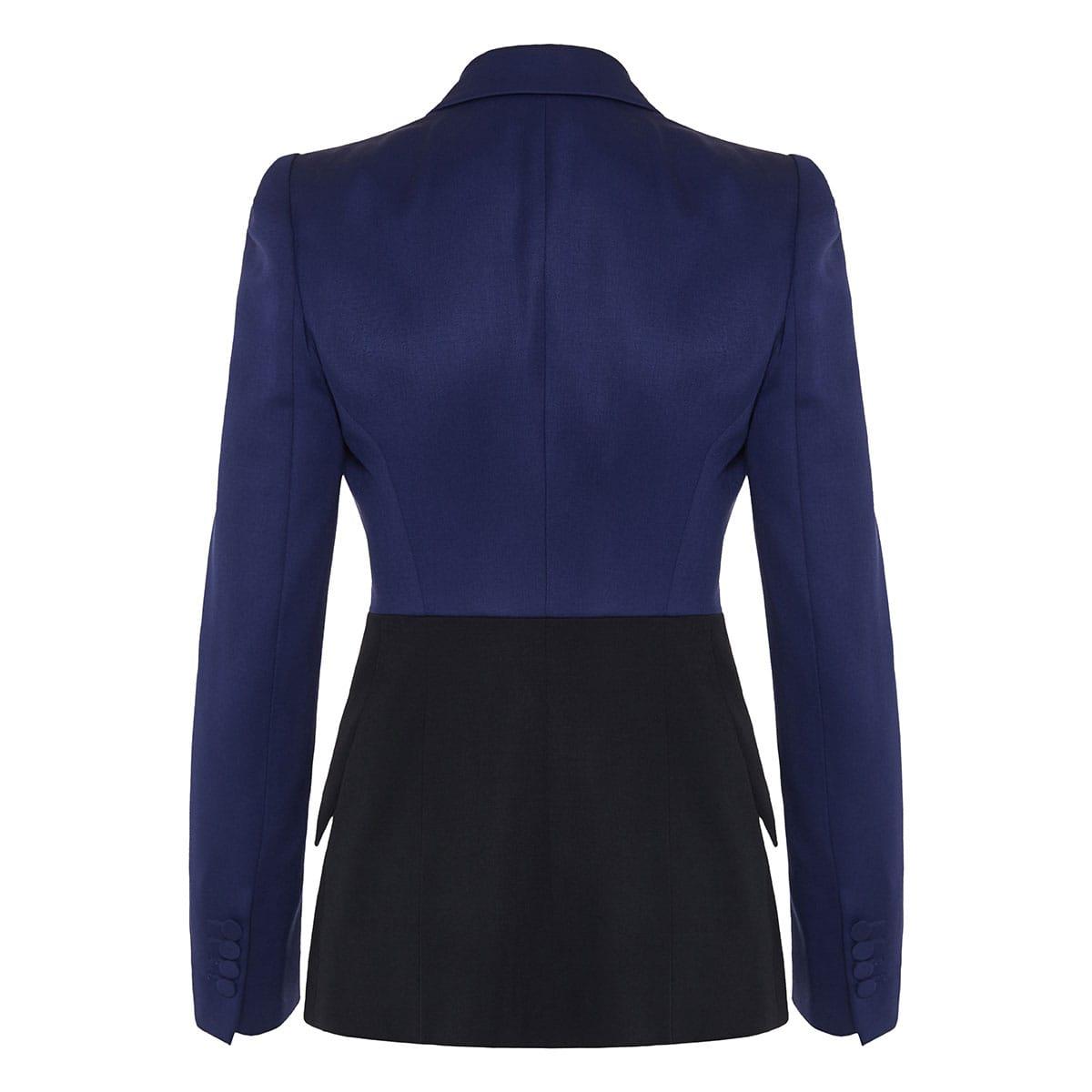 Two-tone single-breasted blazer