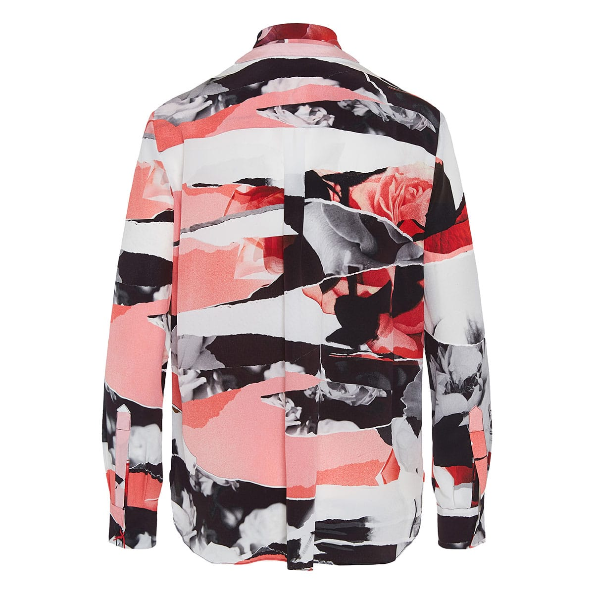 Bow-tie printed silk shirt