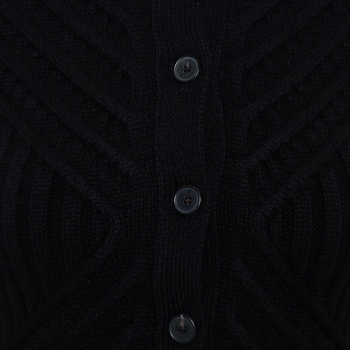 Ribbed-knit peplum cardigan