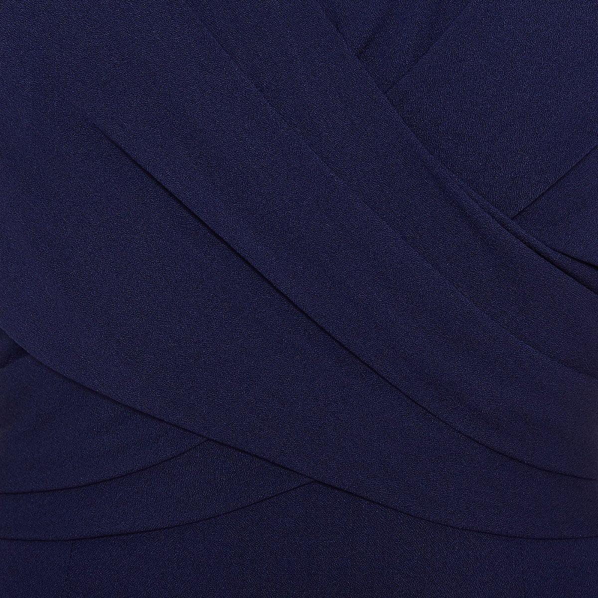 Draped wrap effect midi dress