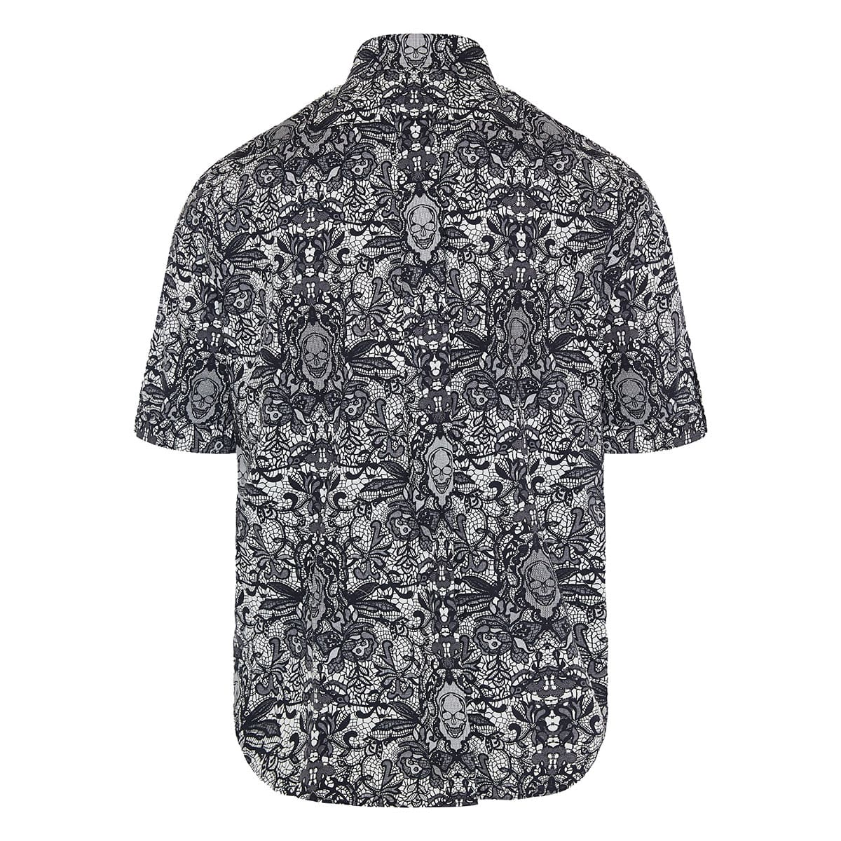 Skull printed short-sleeved shirt