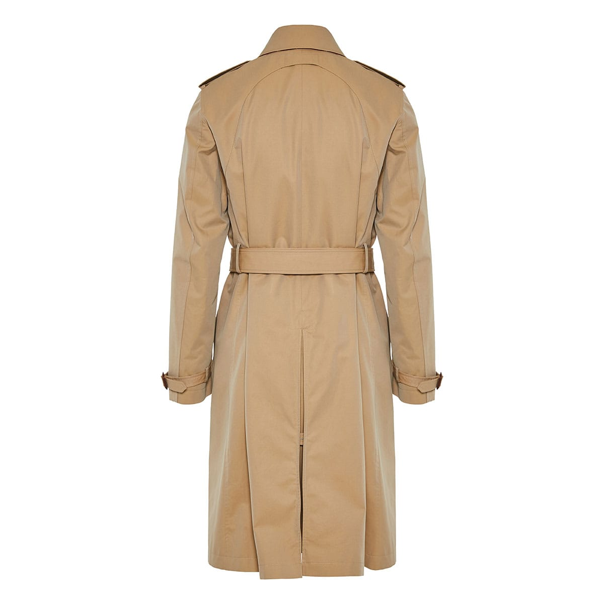 Trench coat with harness detail