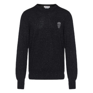 Skull lurex sweater
